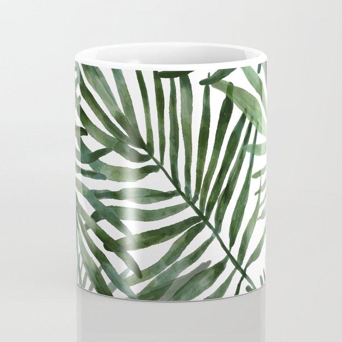 Watercolor simple leaves Coffee Mug