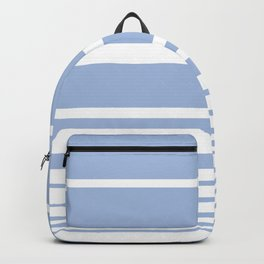 Scandi Pastel Cornflower Stripes Backpack