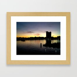 Baltimore view from National Aquarium Framed Art Print