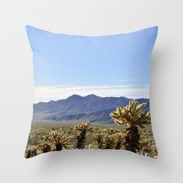 Cholla Cactus Garden Throw Pillow