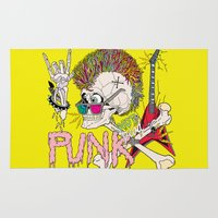 punk Area & Throw Rugs featuring Punk by dogooder