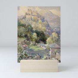 Overlooking the Hohenwerfen Fortress in Salzburg by Edward Theodor Compton Mini Art Print