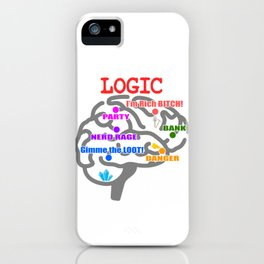 Show your naughty side with this colorful yet head turner tee design. Makes a naughty gift! iPhone Case