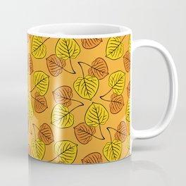 Aspen Leaves Pattern Coffee Mug