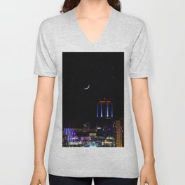 City Lights Unisex V-Neck