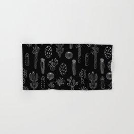 Cactus Silhouette White And Black Hand & Bath Towel