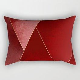 Crimson Tones Rectangular Pillow