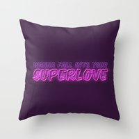 charli xcx Throw Pillows featuring SuperLove / Charli XCX by Justified