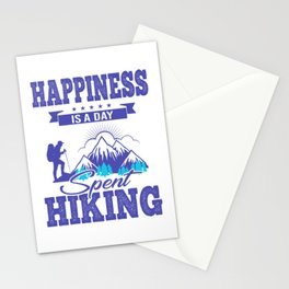 Happiness Is A Day Spent Hiking pb Stationery Cards