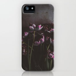 Dark Purple Floral (Color) iPhone Case