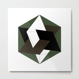 #257 Three golden rectangles in an icosahedron – Geometry Daily Metal Print