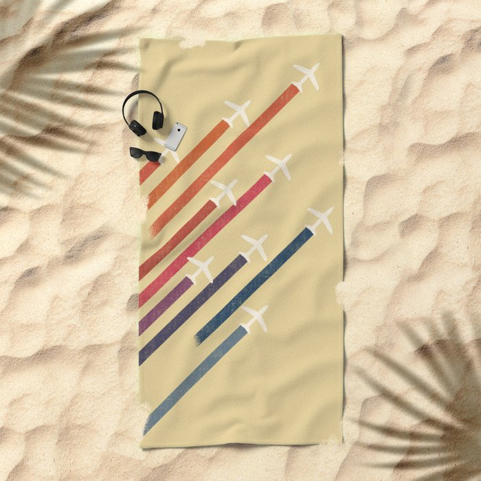 Aerial display (ver.2) Beach Towel