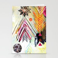 """flora bowley Stationery Cards featuring """"True North"""" Original Painting by Flora Bowley by Flora Bowley"""