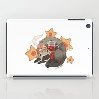 ferret iPad Cases featuring Little Ferret by morteraphan