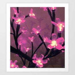 - the purple lights - Art Print