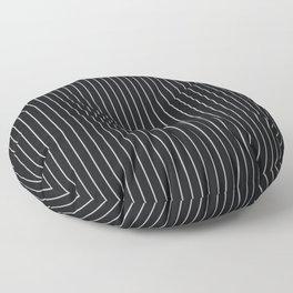Black Linen Sterling Luna Song Pinstripe Floor Pillow