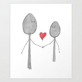 Big Spoon Little Spoon Art Print