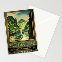 Vintage poster - Wanganui River Stationery Cards
