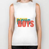 boys Biker Tanks featuring Boys Boys Boys by Pop Invasion