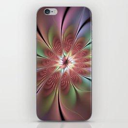 Abstract Fantasy Flower, Fractal Art iPhone Skin