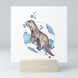 Cheeky Otter Mini Art Print