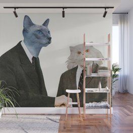 Cat Chat Wall Mural