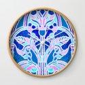 Art Nouveau Blue and Pink Batik Texture by patriciannek