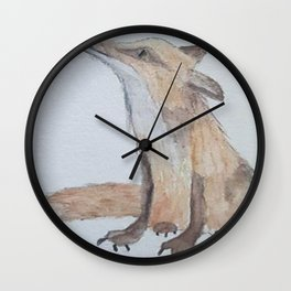 Fox on the run Wall Clock