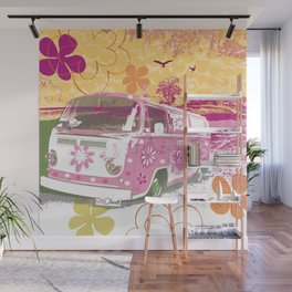 girl camper Wall Mural