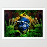 brasil Art Prints featuring Brasil by detectivesinc
