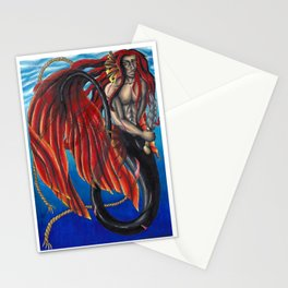 Danger in the ocean Stationery Cards