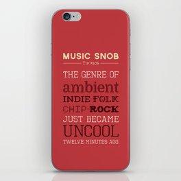 Hybrid Genres to Avoid — Music Snob Tip #506 iPhone Skin
