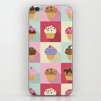 cupcakes iPhone & iPod Skins featuring Cupcakes by Rosa Puchalt