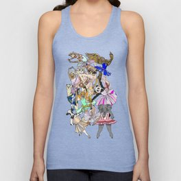 Animal Ballet Hipsters - Green Unisex Tank Top