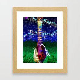 Fusion Keyblade Guitar #173 - Way to the Dawn & Counterpoint Framed Art Print