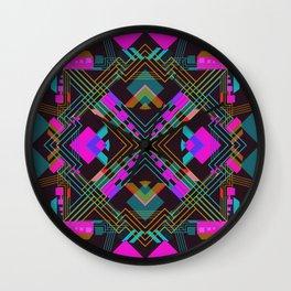 Techno Aztec III Wall Clock
