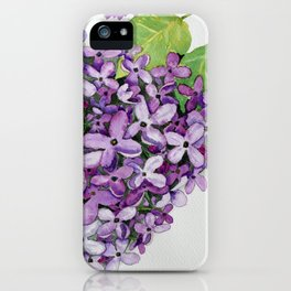 Watercolour Lilac Bloom iPhone Case