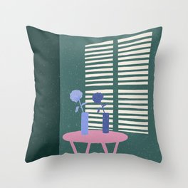 Green Shadows Throw Pillow