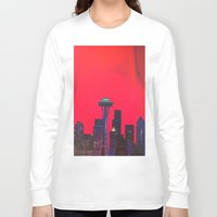 seattle Long Sleeve T-shirts featuring Seattle. by Daniel Montero