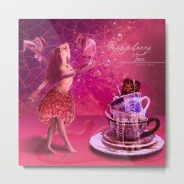 Raspberry tea Metal Print
