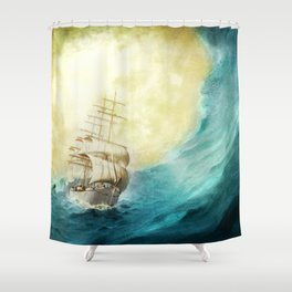 Through Stormy Waters Shower Curtain