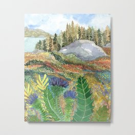 Thistlescape Metal Print