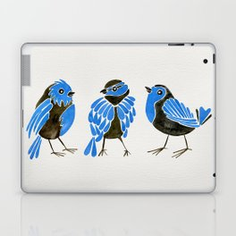 Blue Finches Laptop & iPad Skin