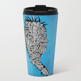 Typography Marla Singer Travel Mug
