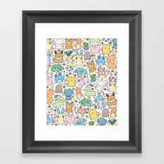Kawaii Pokémon Framed Art Print