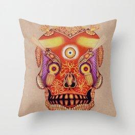 Holy Lumen Skull Throw Pillow