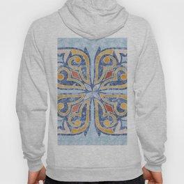 Blue Oriental Tile 04 Hoody