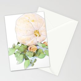 Pumpkin Roses Stationery Cards