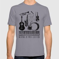 Weapons Of Mass Creation - Music Slate Mens Fitted Tee LARGE