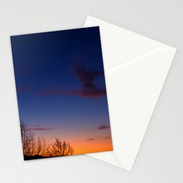 Sunset over the roofs Stationery Cards